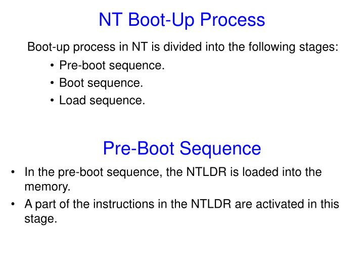 NT Boot-Up Process