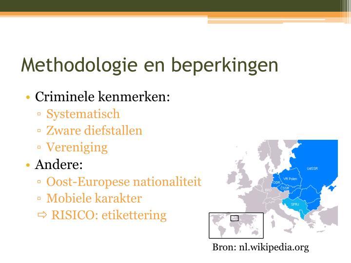 Methodologie en beperkingen