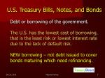 u s treasury bills notes and bonds