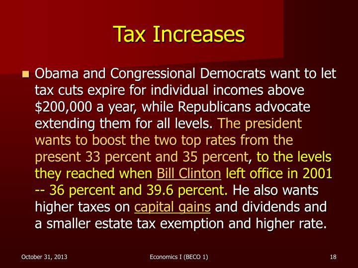 Tax Increases