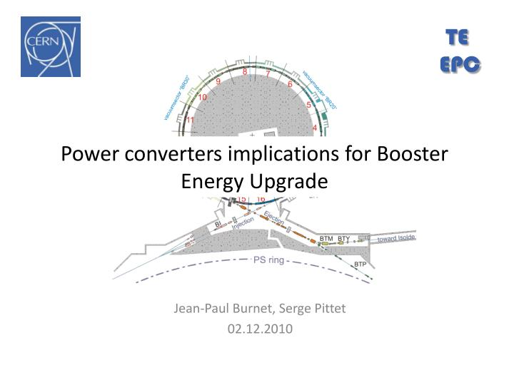 PPT - Power converters implications for Booster Energy