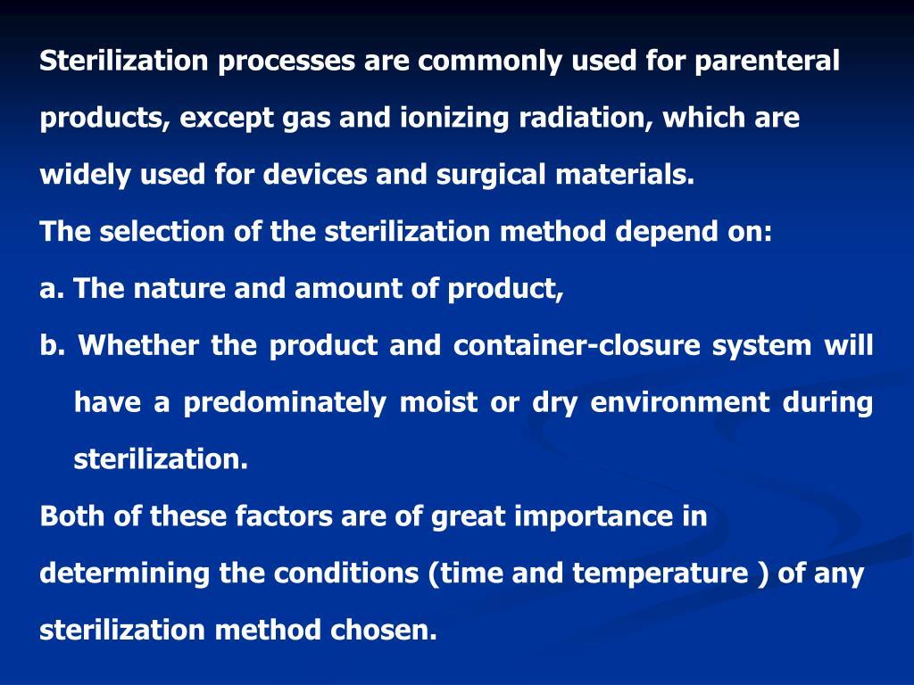 PPT - STERILIZATION METHODS PowerPoint Presentation - ID:3811549