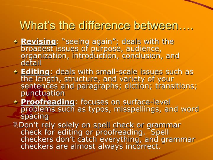 What's the difference between….