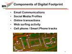 components of digital footprint