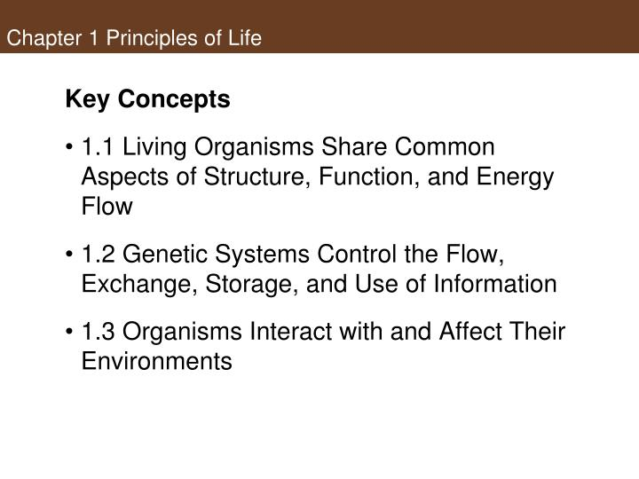 Chapter 1 principles of life