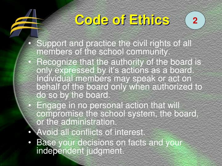 Support and practice the civil rights of all members of the school community.