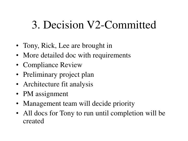 3. Decision V2-Committed