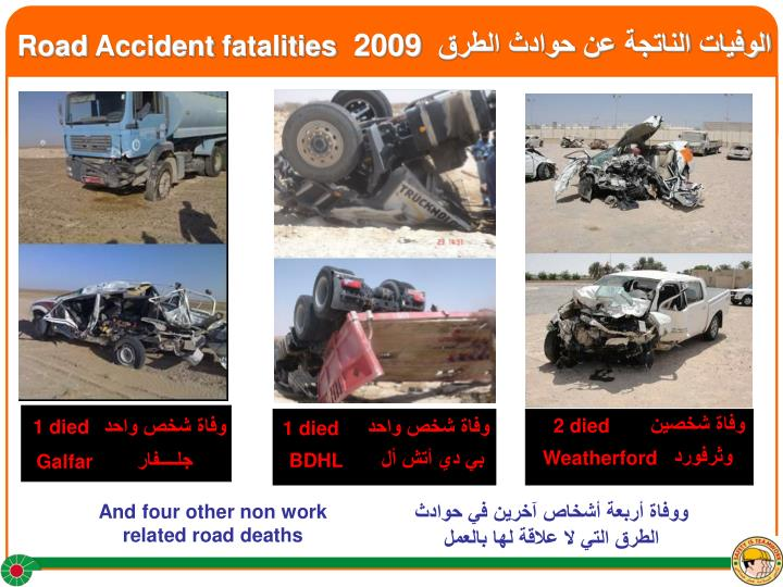 Road accident fatalities 2009