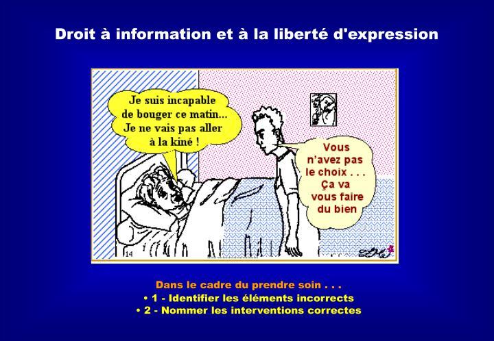 Droit à information et à la liberté d'expression