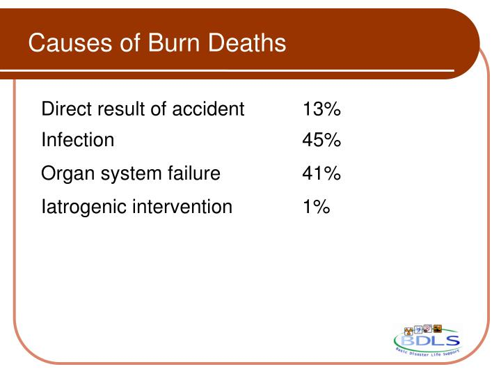 Causes of Burn Deaths