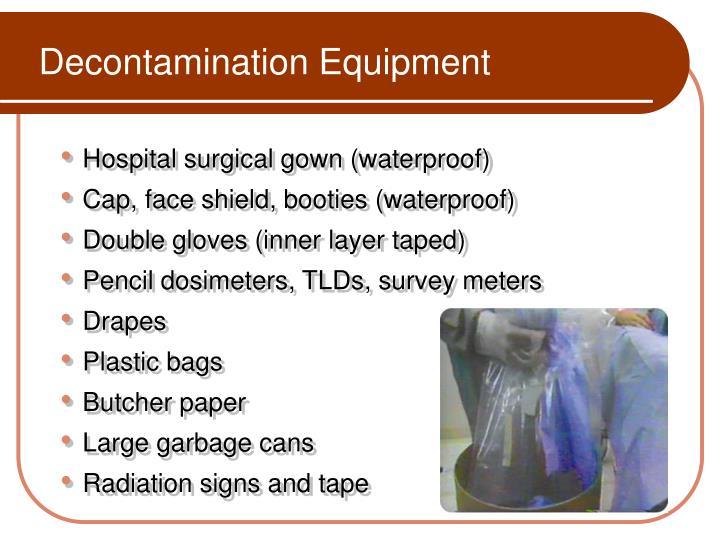 Decontamination Equipment
