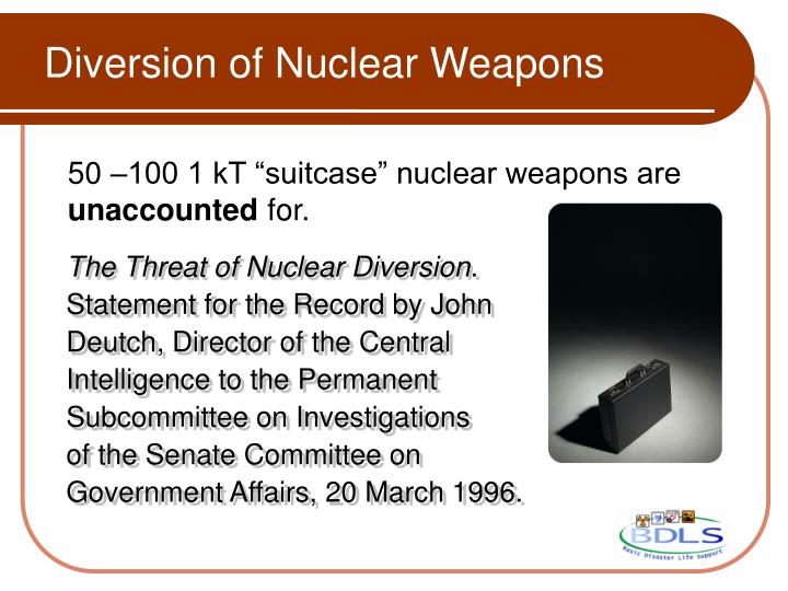 Diversion of Nuclear Weapons