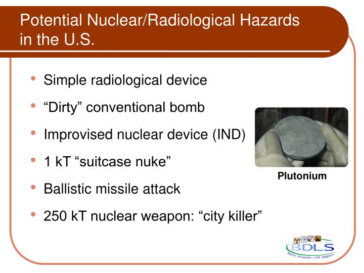 Potential Nuclear/Radiological Hazards