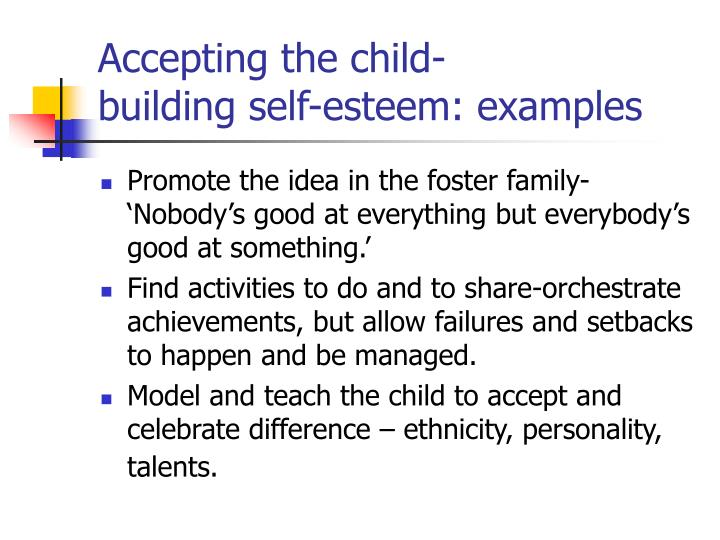 Accepting the child-