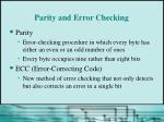 parity and error checking