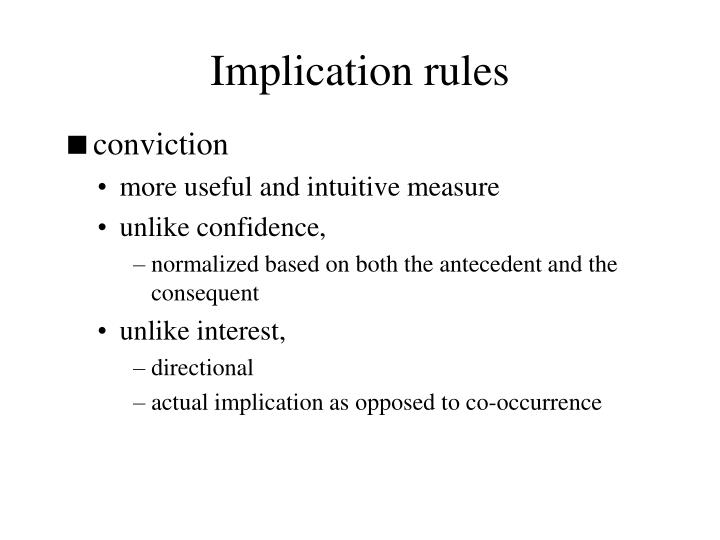 Implication rules