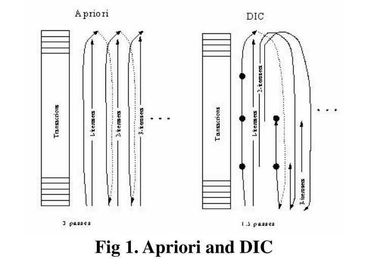 Fig 1. Apriori and DIC