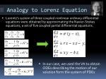 analogy to lorenz equation