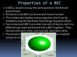 properties of a bec