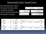 renormalized equations