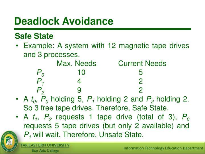 Deadlock Avoidance