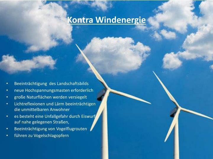 Kontra Windenergie