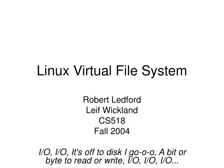 linux virtual file system n.