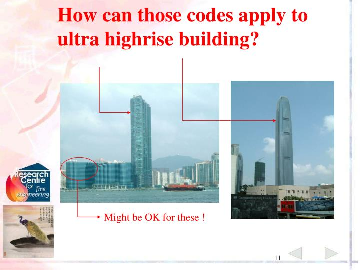 How can those codes apply to ultra highrise building?