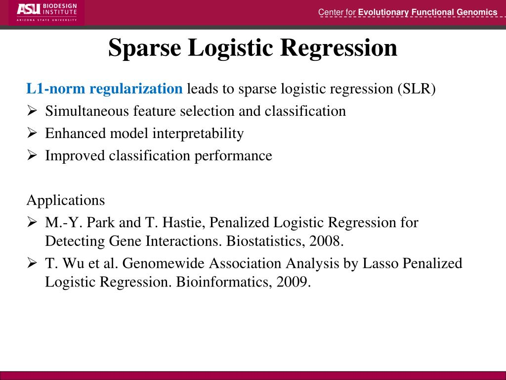 PPT - Large-Scale Sparse Logistic Regression PowerPoint