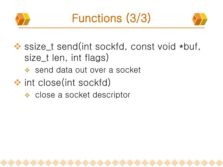 Functions (3/3)