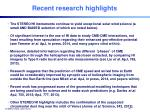recent research highlights