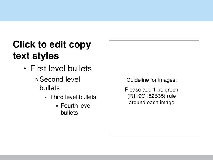 Click to edit copy text styles