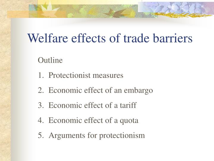 measuring economic effects of technical barriers