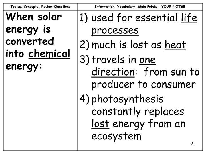 Biogeochemical cycles notes