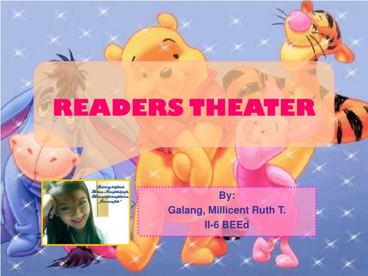 readers theater n.