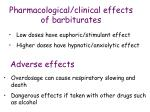 pharmacological clinical effects of barbiturates