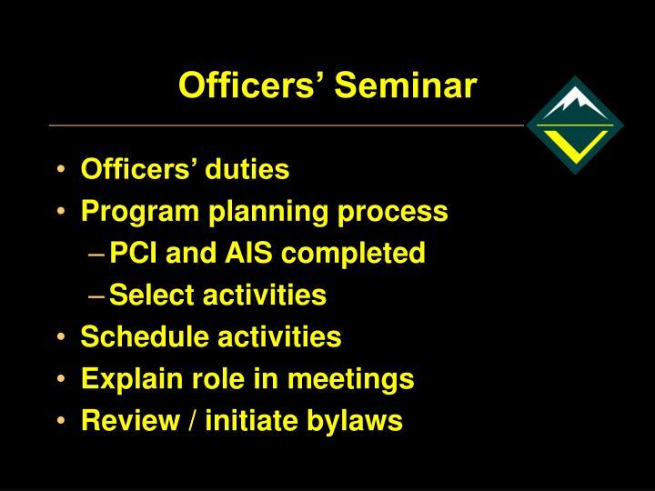 Officers' Seminar