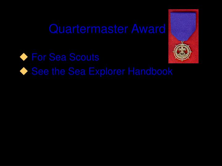 Quartermaster Award