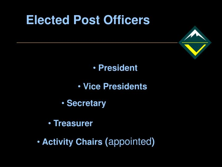Elected Post Officers