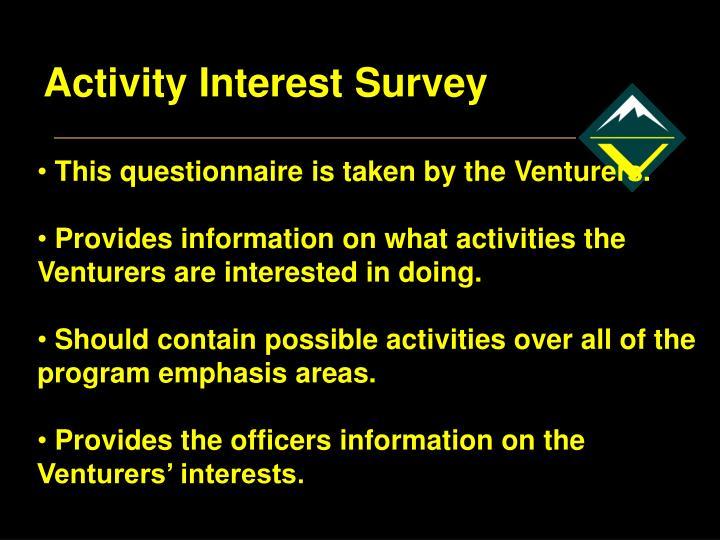 Activity Interest Survey
