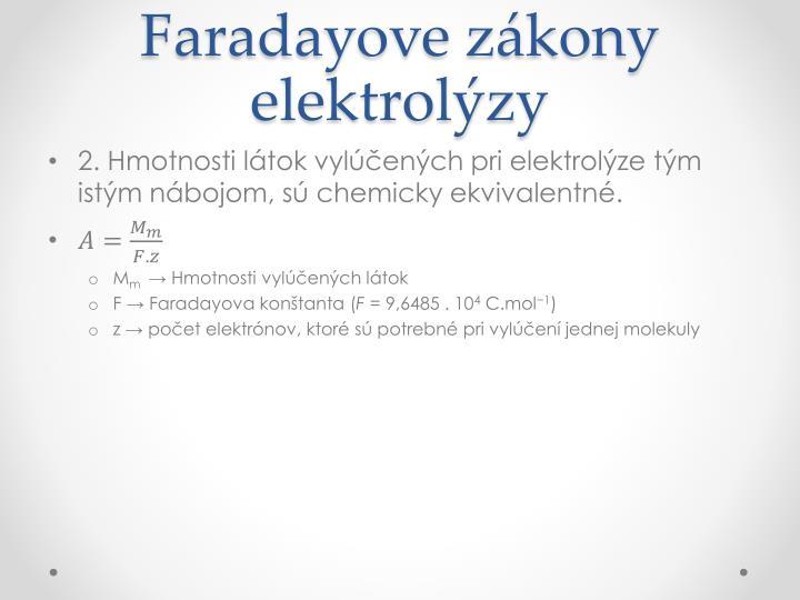 Faradayove zákony elektrolýzy