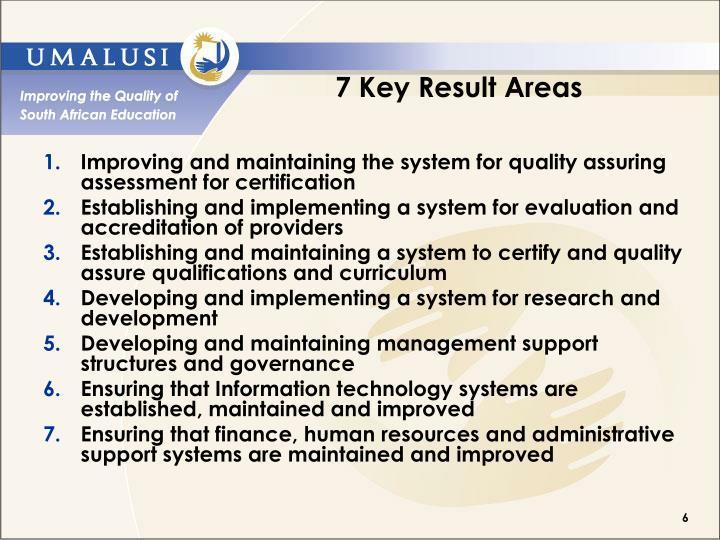 7 Key Result Areas