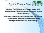 agathe christie says
