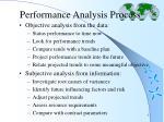 performance analysis process