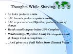 thoughts while shaving