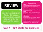 unit 1 ict skills for business