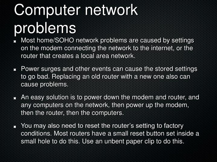 Computer network problems