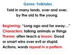genre folktales