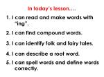 in today s lesson