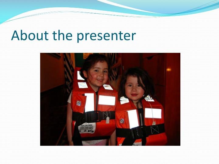About the presenter1